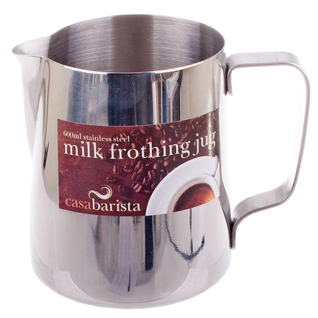 Casa Barista Stainless Steel Milk Frothing Jug 600ML