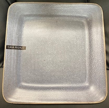 Casa Regalo Grey Square Side Plate - 20cm