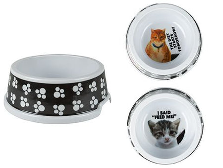 Comical Cat Bowl - 2 Assorted Designs