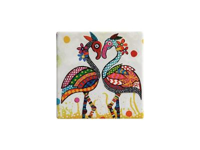 Maxwell & Williams Smile Style Ceramic Tile Coaster 9cm Flamboyant