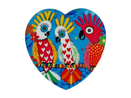 Maxwell & Williams Love Hearts Ceramic Heart Coaster 10cm - Chatter