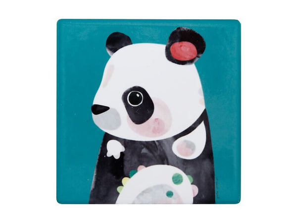 Maxwell & Williams Pete Cromer Wildlife Ceramic Square Coaster 9.5cm - Panda