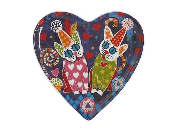 Maxwell & Williams Love Hearts Heart Plate 15.5cm - Cup Cakes