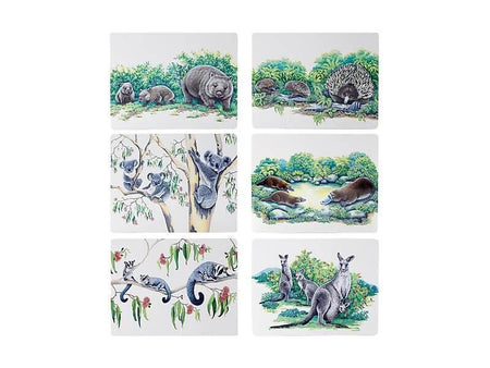 Maxwell & Williams Animals of Australia Placemat Set of 6 - Assorted