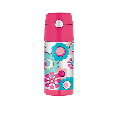 Thermos 355ml Funtainer Drink Bottle - Flower