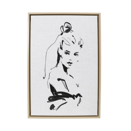 Full Bloom Lady Framed Canvas 44x64cm