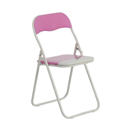 Folding Chair - Pink & White