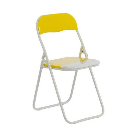 Folding Chair - Yellow & White