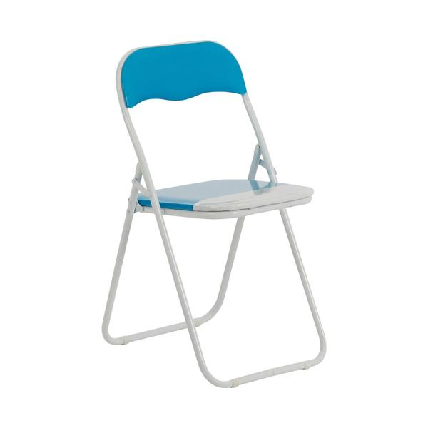 Folding Chair - Baby Blue & White