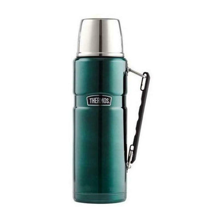 Thermos 1.2L Stainless Steel Vaccum Flask - Green