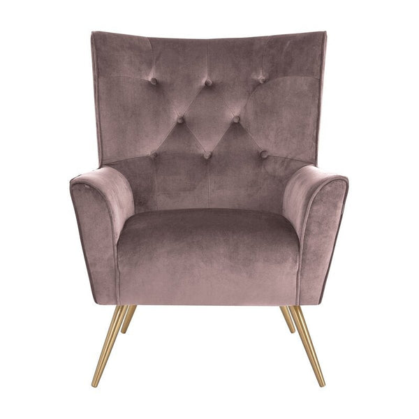 Emma Accent Chair - Dusty Rose