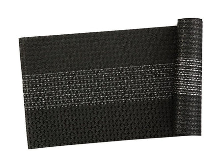 Maxwell & Williams Table Accents Woven Lurex Runner 30x150cm Black