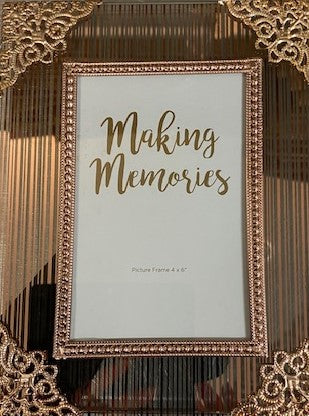 "Rose Gold Metal & Glass Photo Frame 8X10""/25x30cm"