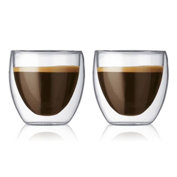 Maxwell & Williams Blend Double Wall Espresso Cups 80ml Set of 2