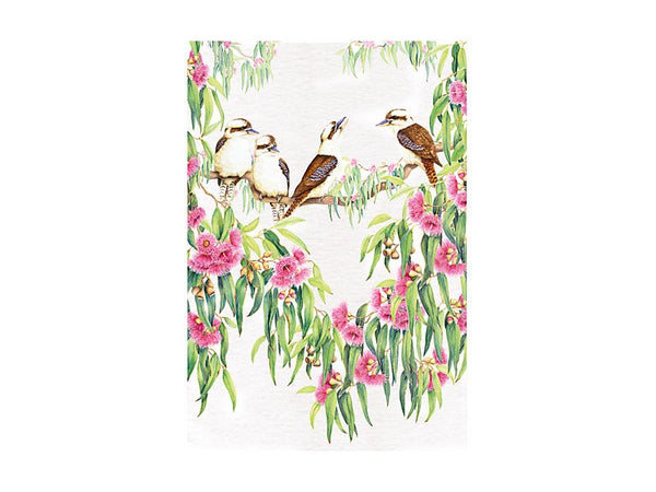 Maxwell & Williams Royal Botanic Gardens Victoria Garden Friends Tea Towel 50x70cm - Kookaburra