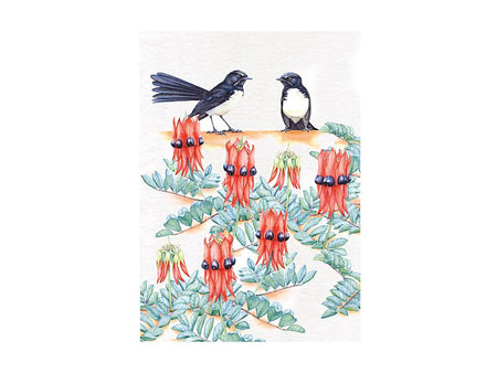 Maxwell & Williams Royal Botanic Gardens Victoria Garden Friends Tea Towel 50x70cm - Willy Wagtail