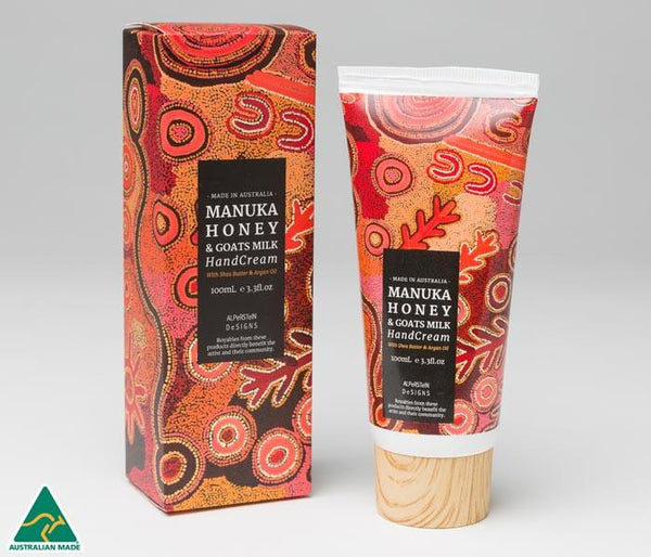 Theo Hudson Manuka Honey & Goats Milk Hand Cream with Shea Butter & Argan Oil 100ml