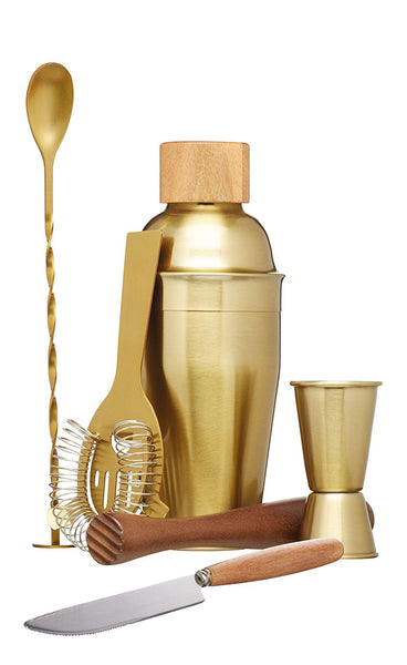 Barcraft Cocktail Set 450ml - 6pc Brass