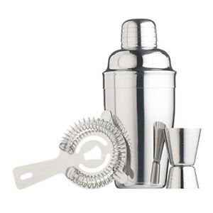 Barcraft Cocktail Kit 3pc Stainless Steel
