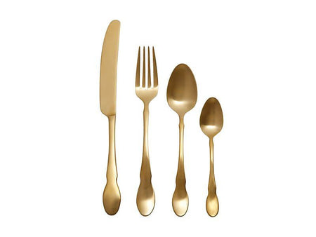 Maxwell & Williams Chester Cutlery Set 16 Piece Gold