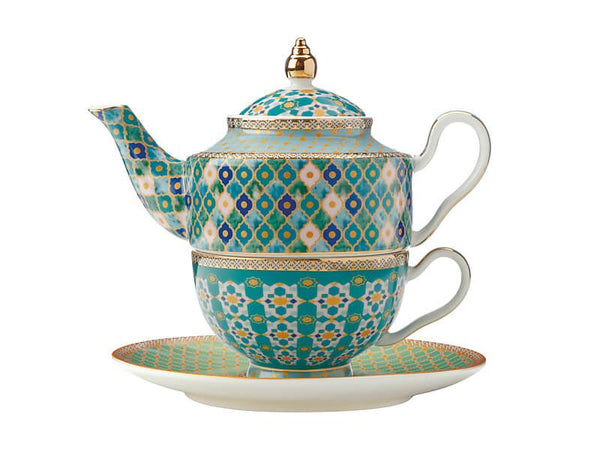 Maxwell & Williams Teas & C's Kasbah Tea For One With Infuser 380ml - Mint Gift Boxed