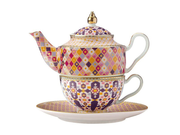 Maxwell & Williams Teas & C's Kasbah Tea For One With Infuser 380ml - Rose Gift Boxed