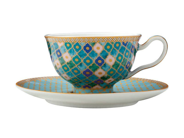Maxwell & Williams Teas & C's Kasbah Footed Cup & Saucer 200ML - Mint Gift Boxed