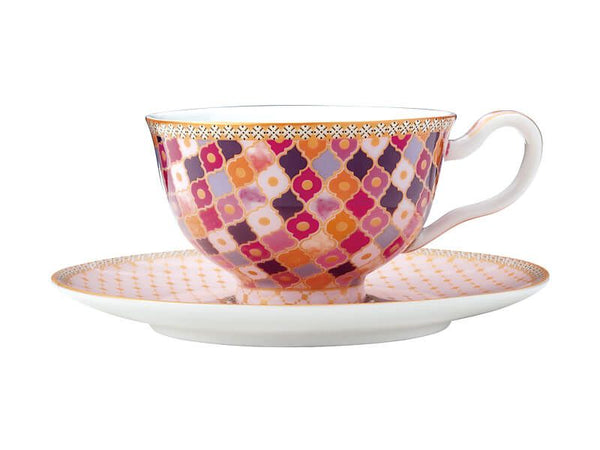 Maxwell & Williams Teas & C's Kasbah Footed Cup & Saucer 200ml - Rose Gift Boxed