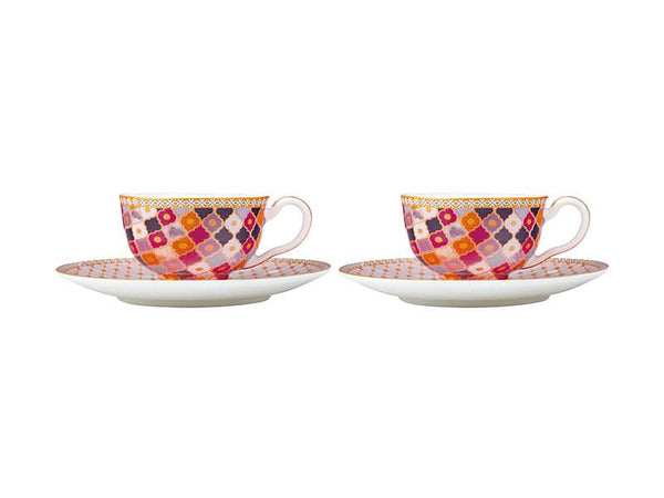Maxwell & Williams Teas & C's Kasbah Demi Cup & Saucer 85ml Set of 2 - Rose Gift Boxed