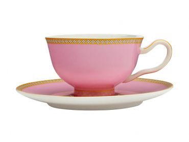 Maxwell & Williams Teas & C's Kasbah Classic Footed Cup & Saucer 200ML - Hot Pink Gift Boxed