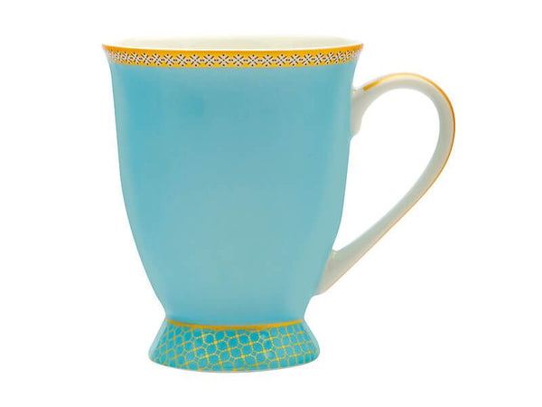 Maxwell & Williams Teas & C's Kasbah Classic Footed Mug 300ML - Turquoise Gift Boxed