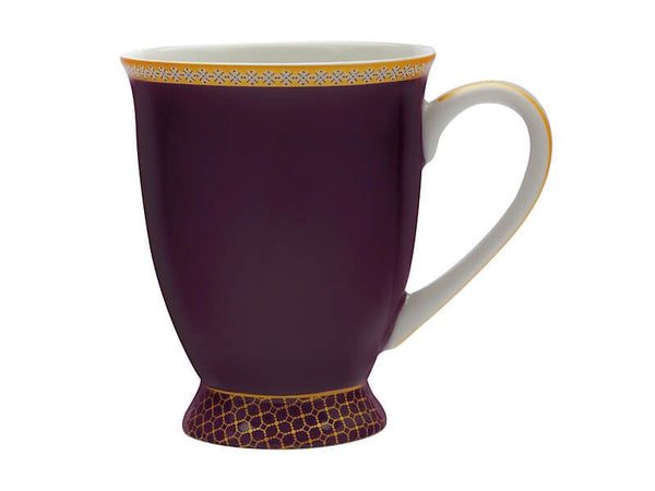 Maxwell & Williams Teas & C's Kasbah Classic Footed Mug 300ML - Violet Gift Boxed