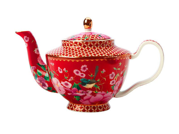 Maxwell & Williams Teas & C's Silk Road Teapot With Infuser 500ml - Cherry Red Gift Boxed