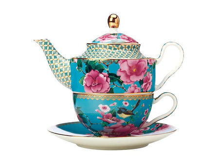 Maxwell & Williams Teas & C's Silk Road Tea For One With Infuser 380ml - Aqua Gift Boxed