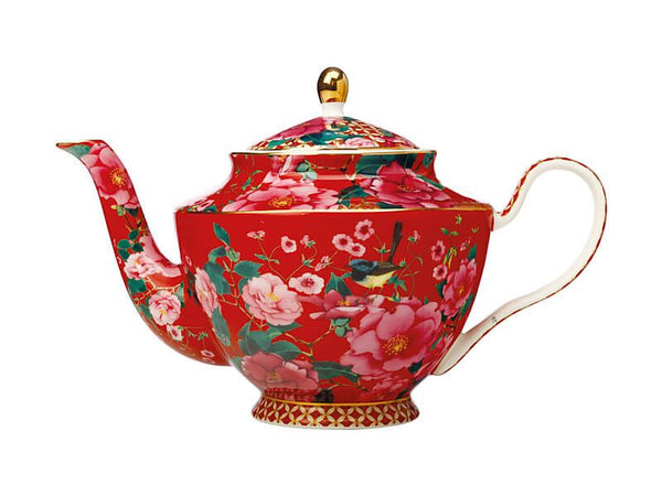 Maxwell & Williams Teas & C's Silk Road Teapot With Infuser 1L - Cherry Red Gift Boxed