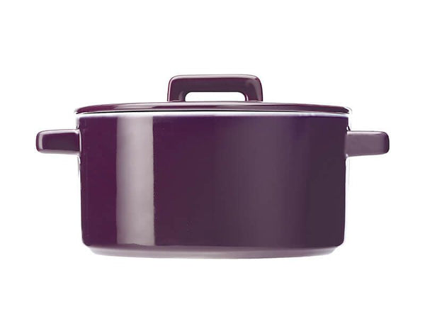 Maxwell & Williams Epicurious Round Casserole 1.3L - Aubergine
