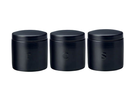 Maxwell & Williams Epicurious Canister 600ml - Set Of 3 - Black