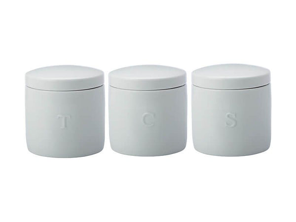 Maxwell & Williams Epicurious Canister 600ml - Set Of 3 - White