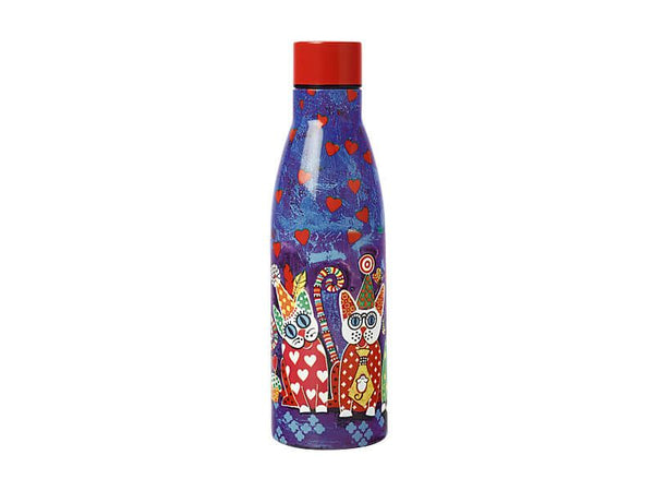 Maxwell & Williams Love Hearts Double Wall Insulated Bottle 500ml - Cup Cakes