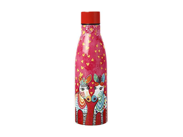 Maxwell & Williams Love Hearts Double Wall Insulated Bottle 500ml - Zig Zag Zebras