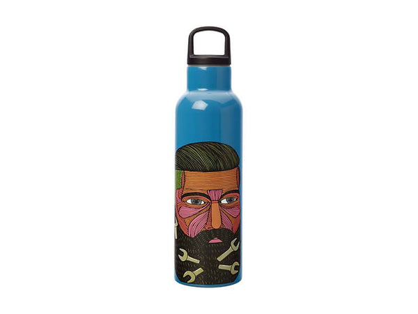 Maxwell & Williams Mulga The Artist - Double Wall Insulated Bottle 600ml Spanner Man