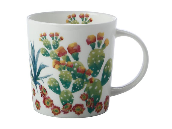 Maxwell & Williams Royal Botanic Garden - Arid Garden Mug 300ml - Prickly Pear Gift Boxed
