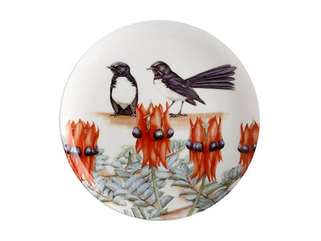 Maxwell & Williams Royal Botanic Gardens Victoria Garden Friends Plate 20cm - Willy Wagtail