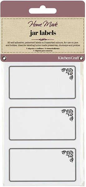 KitchenCraft Home Made Jar Labels - Pack of 20