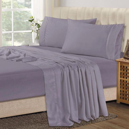 Bamboo Combo Set - Double Fitted Sheet and Two Pillowcases - Lavender