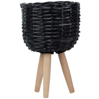 Bota Willow Pot Planter - Black - Small