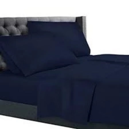 Bamboo Combo Set - Double Fitted Sheet and Two Pillowcases - Navy