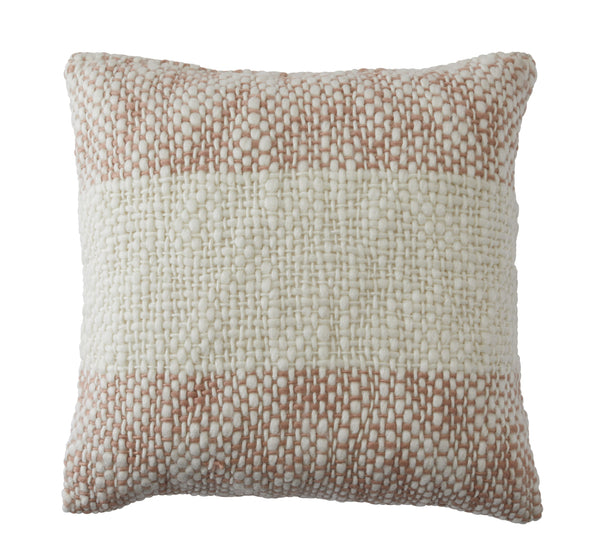 Amalfi Aiken Cushion - Natural/Pink 50x50cm