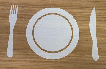 Placemat - Bamboo White - 45x30cm