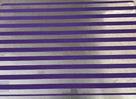 Placemat Plastic - Stripe Purple/Clear - 43x28.5cm